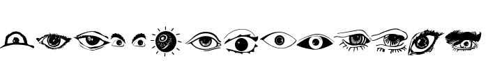 Eyes Font UPPERCASE