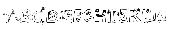 EyesAlphabet Font LOWERCASE