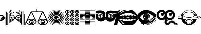 EyesAugenMouth Font UPPERCASE