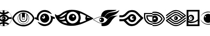 EyesAugenMouth Font LOWERCASE