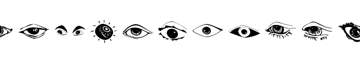 Eyes Font LOWERCASE