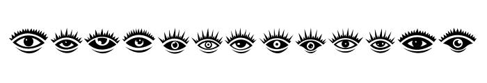 Eyez Regular Font UPPERCASE