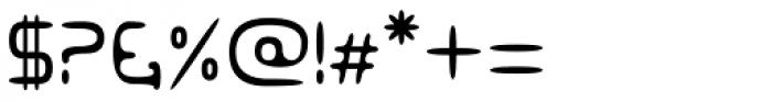 Eyadish Thin Font OTHER CHARS