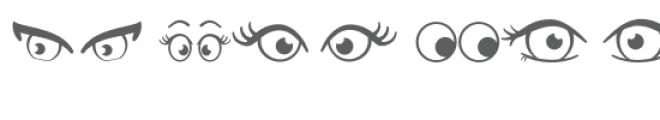 eyes doodlebat Font OTHER CHARS
