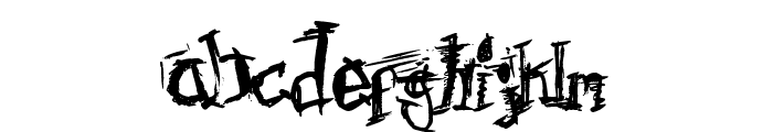 F'Donkulous Font LOWERCASE