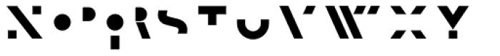 F.O.T.R. Black Font LOWERCASE