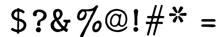 F25 Executive Font OTHER CHARS