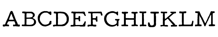 F25 Executive Font UPPERCASE
