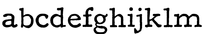 F25 Executive Font LOWERCASE