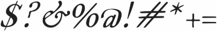 Fabello Light Italic otf (300) Font OTHER CHARS