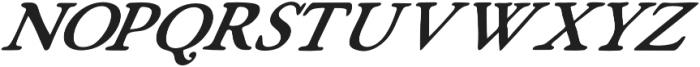 Fabello Light Italic otf (300) Font UPPERCASE