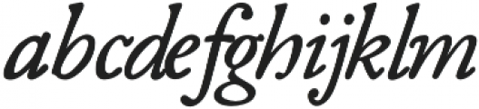 Fabello Light Italic otf (300) Font LOWERCASE