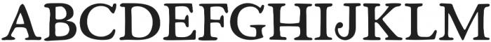 Fabello Regular otf (400) Font UPPERCASE
