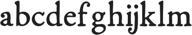 Fabello Regular otf (400) Font LOWERCASE