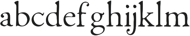 Fabello Thin otf (100) Font LOWERCASE
