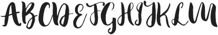Fabiana Regular otf (400) Font UPPERCASE