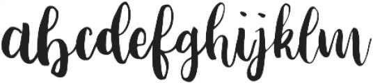 Fabiana Regular otf (400) Font LOWERCASE