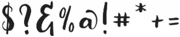 Fabiana Regular ttf (400) Font OTHER CHARS