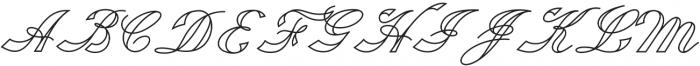 Fabulous Outline otf (400) Font UPPERCASE