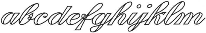 Fabulous Outline otf (400) Font LOWERCASE