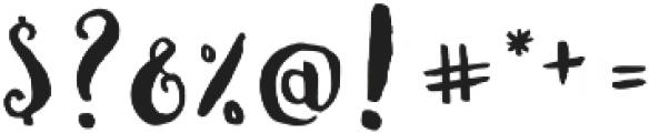 Fabulous Script Regular otf (400) Font OTHER CHARS