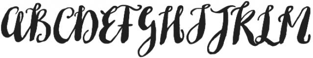 Fabulous Script Regular otf (400) Font UPPERCASE