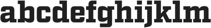 Factoria Black otf (900) Font LOWERCASE