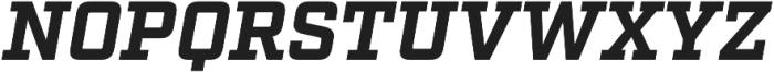 Factoria Bold Italic otf (700) Font UPPERCASE