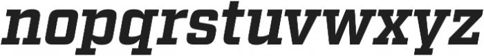 Factoria Bold Italic otf (700) Font LOWERCASE