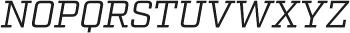 Factoria Book Italic otf (400) Font UPPERCASE