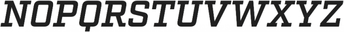 Factoria Demi Italic otf (400) Font UPPERCASE