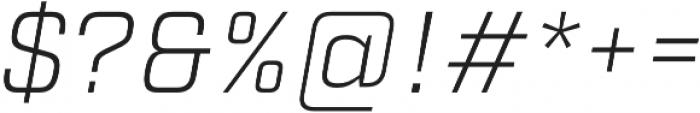 Factoria Light Italic otf (300) Font OTHER CHARS