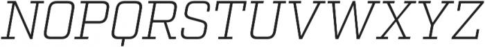 Factoria Light Italic otf (300) Font UPPERCASE