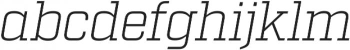 Factoria Light Italic otf (300) Font LOWERCASE
