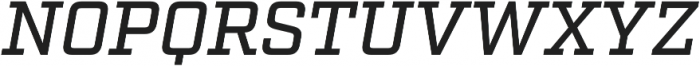 Factoria Medium Italic otf (500) Font UPPERCASE