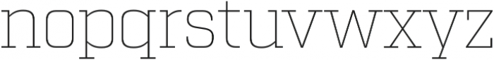 Factoria Thin otf (100) Font LOWERCASE