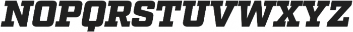 Factoria Ultra Italic otf (900) Font UPPERCASE
