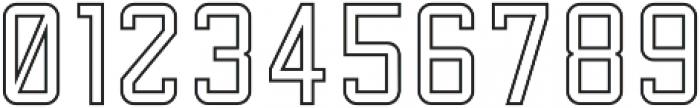 Factory Floor Outline otf (400) Font OTHER CHARS