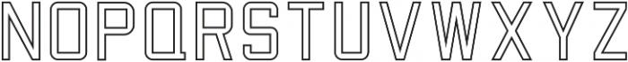 Factory Floor Outline otf (400) Font LOWERCASE