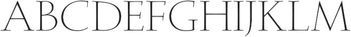Faded Grandeur Light otf (300) Font UPPERCASE