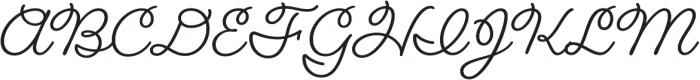 Fairwater Script otf (400) Font UPPERCASE