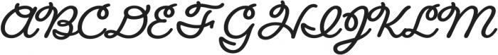 Fairwater Script otf (700) Font UPPERCASE