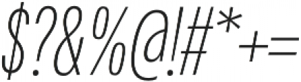 Fairweather ExtraLight Italic otf (200) Font OTHER CHARS