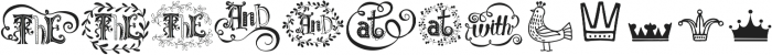Fairy Tale Extras otf (400) Font UPPERCASE