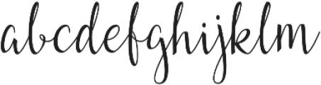 Fairybells Script otf (400) Font LOWERCASE