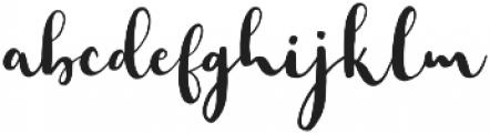 Faither Modern Brush Medium otf (500) Font LOWERCASE