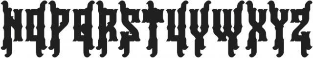 Falchion Edge Extrude otf (400) Font UPPERCASE