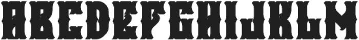 Falchion Edge Extrude otf (400) Font LOWERCASE