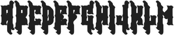 Falchion Edge Shadow B otf (400) Font UPPERCASE