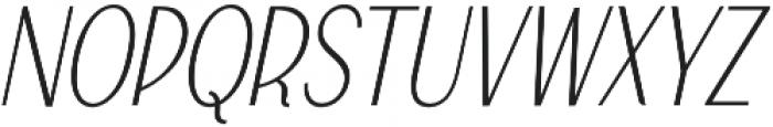 Falkin Sans Italic otf (400) Font UPPERCASE